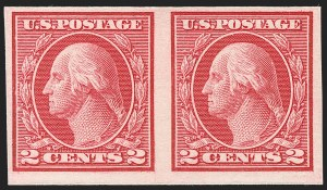 Sale Number 1230, Lot Number 2007, Washington-Franklin and early 20th Century Commeorative Issues2c Carmine, Ty. I, Imperforate Coil (459), 2c Carmine, Ty. I, Imperforate Coil (459)