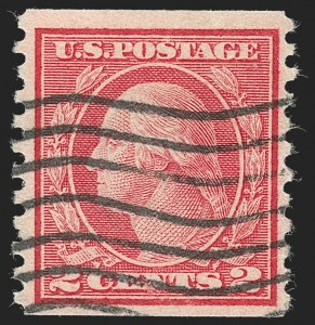 Sale Number 1230, Lot Number 2016, Washington-Franklin and early 20th Century Commeorative Issues2c Carmine, Ty. II, Coil (491), 2c Carmine, Ty. II, Coil (491)