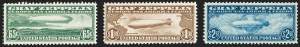 Sale Number 1230, Lot Number 2118, Air Post65c-$2.60 Graf Zeppelin (C13-C15), 65c-$2.60 Graf Zeppelin (C13-C15)