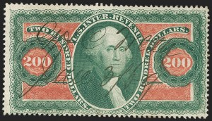 Sale Number 1230, Lot Number 2187, Revenues$200.00 U.S.I.R., Perforated (R102c), $200.00 U.S.I.R., Perforated (R102c)