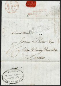 Sale Number 1230, Lot Number 502, Hale's Foreign Letter Office, 1838-1842 Forwarded from/Hale's For. Let. Office,/Corner of Wall and Water Streets, New-York, Forwarded from/Hale's For. Let. Office,/Corner of Wall and Water Streets, New-York