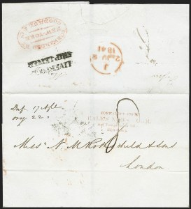 Sale Number 1230, Lot Number 503, Hale's Foreign Letter Office, 1838-1842 Forwarded from/Hale's News Room/And Foreign Letter Office/New-York, Forwarded from/Hale's News Room/And Foreign Letter Office/New-York