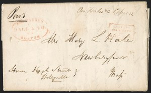 Sale Number 1230, Lot Number 507, Hale & Co.: Boston Mass.Forwarded by Hale & Co. from Boston, Forwarded by Hale & Co. from Boston