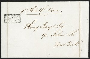 Sale Number 1230, Lot Number 509, Hale & Co.: Boston Mass.Forwarded Through/Hale & Co.'s/Letter Office 13/Court St. Boston, Forwarded Through/Hale & Co.'s/Letter Office 13/Court St. Boston