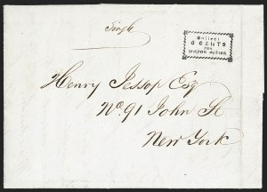 Sale Number 1230, Lot Number 511, Hale & Co.: Boston Mass.Collect/6 Cents/for/Boston Office, Collect/6 Cents/for/Boston Office