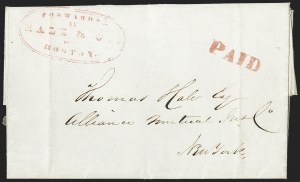 Sale Number 1230, Lot Number 514, Hale & Co.: Boston Mass.Forwarded by Hale & Co. from Boston, Forwarded by Hale & Co. from Boston