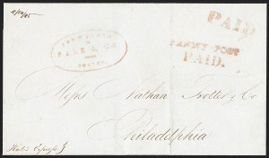 Sale Number 1230, Lot Number 517, Hale & Co.: Boston Mass.PENNY POST/PAID, PENNY POST/PAID