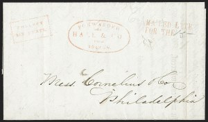 Sale Number 1230, Lot Number 529, Hale & Co.: Boston Mass.MAILED LATE/FOR THE, MAILED LATE/FOR THE