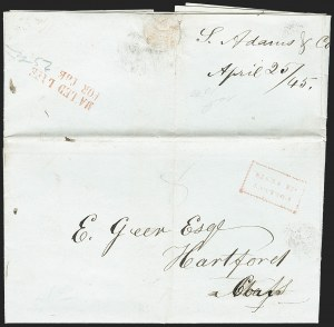 Sale Number 1230, Lot Number 530, Hale & Co.: Boston Mass.MAILED LATE/FOR THE, MAILED LATE/FOR THE