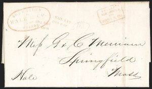 Sale Number 1230, Lot Number 531, Hale & Co.: Boston Mass.MAIL LATE/FOR THE, MAIL LATE/FOR THE