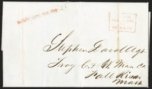Sale Number 1230, Lot Number 535, Hale & Co.: Boston Mass.MAILED LATE FOR THE, MAILED LATE FOR THE