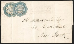 Sale Number 1230, Lot Number 538, Hale & Co.: Boston Mass.Hale & Co., 5c Blue, with Street Address, 5c Blue, Street Address Omitted (75L1, 75L5), Hale & Co., 5c Blue, with Street Address, 5c Blue, Street Address Omitted (75L1, 75L5)