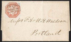 Sale Number 1230, Lot Number 539, Hale & Co.: Boston Mass.Hale & Co., 5c Red on Bluish (75L2), Hale & Co., 5c Red on Bluish (75L2)