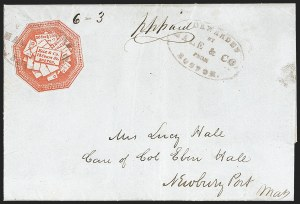 Sale Number 1230, Lot Number 541, Hale & Co.: Boston Mass.Hale & Co., 5c Red on Bluish (75L2), Hale & Co., 5c Red on Bluish (75L2)