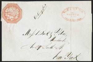 Sale Number 1230, Lot Number 542, Hale & Co.: Boston Mass.Hale & Co., 5c Red on Bluish (75L2), Hale & Co., 5c Red on Bluish (75L2)