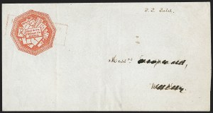 Sale Number 1230, Lot Number 543, Hale & Co.: Boston Mass.Hale & Co., 5c Red on Bluish (75L2), Hale & Co., 5c Red on Bluish (75L2)