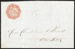 Sale Number 1230, Lot Number 544, Hale & Co.: Boston Mass.Hale & Co., 5c Red on Bluish (75L2), Hale & Co., 5c Red on Bluish (75L2)