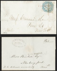 Sale Number 1230, Lot Number 558, Hale & Co.: Boston Mass.PAID BOSTON, PAID BOSTON