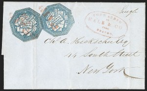 Sale Number 1230, Lot Number 576, Hale & Co.: Boston Mass.Hale & Co., 5c Blue, With and Without Street Address (75L1, 75L5), Hale & Co., 5c Blue, With and Without Street Address (75L1, 75L5)