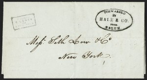 Sale Number 1230, Lot Number 640, Hale & Co.: Massachusetts (Continued)Forwarded by Hale & Co. from Salem, Forwarded by Hale & Co. from Salem