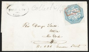 Sale Number 1230, Lot Number 645, Hale & Co.: Massachusetts (Continued)Hale & Co., 5c Blue, Street Address Omitted (75L5), Hale & Co., 5c Blue, Street Address Omitted (75L5)