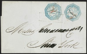 Sale Number 1230, Lot Number 649, Hale & Co.: Massachusetts (Continued)Hale & Co., 5c Blue, Street Address Omitted (75L5), Hale & Co., 5c Blue, Street Address Omitted (75L5)
