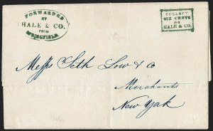 Sale Number 1230, Lot Number 654, Hale & Co.: Massachusetts (Continued)Forwarded by Hale & Co. from Springfield, Forwarded by Hale & Co. from Springfield