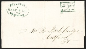 Sale Number 1230, Lot Number 655, Hale & Co.: Massachusetts (Continued)Forwarded by Hale & Co. from Springfield, Forwarded by Hale & Co. from Springfield