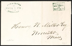 Sale Number 1230, Lot Number 656, Hale & Co.: Massachusetts (Continued)Forwarded by Hale & Co. from Springfield, Forwarded by Hale & Co. from Springfield