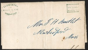 Sale Number 1230, Lot Number 657, Hale & Co.: Massachusetts (Continued)Forwarded by Hale & Co. from Springfield, Forwarded by Hale & Co. from Springfield