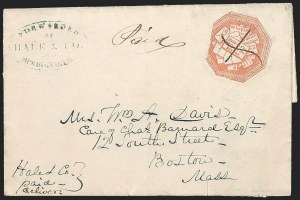 Sale Number 1230, Lot Number 659, Hale & Co.: Massachusetts (Continued)Hale & Co., 5c Red on Bluish (75L2), Hale & Co., 5c Red on Bluish (75L2)