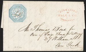 Sale Number 1230, Lot Number 661, Hale & Co.: Massachusetts (Continued)Hale & Co., 5c Blue, Street Address Omitted (75L5), Hale & Co., 5c Blue, Street Address Omitted (75L5)