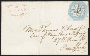 Sale Number 1230, Lot Number 662, Hale & Co.: Massachusetts (Continued)Hale & Co., 5c Blue, Street Address Omitted (75L5), Hale & Co., 5c Blue, Street Address Omitted (75L5)
