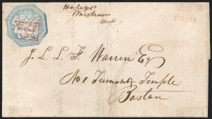 Sale Number 1230, Lot Number 664, Hale & Co.: Massachusetts (Continued)Hale & Co., 5c Blue, Street Address Omitted (75L5), Hale & Co., 5c Blue, Street Address Omitted (75L5)