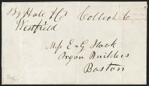 Sale Number 1230, Lot Number 666, Hale & Co.: Massachusetts (Continued)Collect/Six Cents, Collect/Six Cents