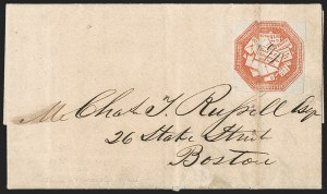 Sale Number 1230, Lot Number 669, Hale & Co.: Massachusetts (Continued)Hale & Co., 5c Red on Bluish (75L2), Hale & Co., 5c Red on Bluish (75L2)