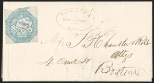 Sale Number 1230, Lot Number 670, Hale & Co.: Massachusetts (Continued)Hale & Co., 5c Blue, Street Address Omitted (75L5), Hale & Co., 5c Blue, Street Address Omitted (75L5)