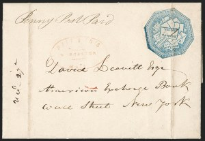 Sale Number 1230, Lot Number 673, Hale & Co.: Massachusetts (Continued)Hale & Co., 5c Blue, Street Address Omitted (75L5), Hale & Co., 5c Blue, Street Address Omitted (75L5)