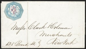 Sale Number 1230, Lot Number 680, Hale & Co.: ConnecticutHale & Co., 5c Blue, Street Address Omitted (75L5), Hale & Co., 5c Blue, Street Address Omitted (75L5)