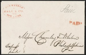 Sale Number 1230, Lot Number 687, Hale & Co.: ConnecticutForwarded by Hale & Co. from New Haven, Forwarded by Hale & Co. from New Haven
