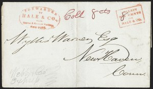 Sale Number 1230, Lot Number 689, Hale & Co.: ConnecticutForwarded by Hale & Co. from Courier & Enquirer Building, New York, Forwarded by Hale & Co. from Courier & Enquirer Building, New York