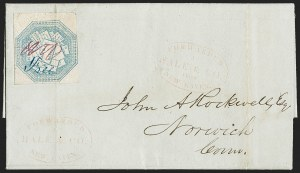 Sale Number 1230, Lot Number 690, Hale & Co.: ConnecticutHale & Co., 5c Blue, Street Address Omitted (75L5), Hale & Co., 5c Blue, Street Address Omitted (75L5)
