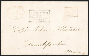 Sale Number 1230, Lot Number 692, Hale & Co.: ConnecticutForwarded by Hale & Co. from New London, Forwarded by Hale & Co. from New London