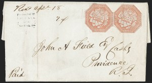 Sale Number 1230, Lot Number 698, Hale & Co.: ConnecticutHale & Co., 5c Red on Bluish (75L2), Hale & Co., 5c Red on Bluish (75L2)