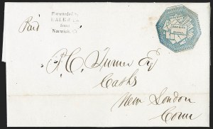 Sale Number 1230, Lot Number 699, Hale & Co.: ConnecticutHale & Co., 5c Blue, Street Address Omitted (75L5), Hale & Co., 5c Blue, Street Address Omitted (75L5)