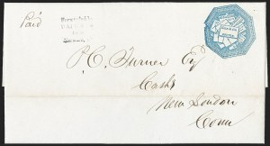 Sale Number 1230, Lot Number 700, Hale & Co.: ConnecticutHale & Co., 5c Blue, Street Address Omitted (75L5), Hale & Co., 5c Blue, Street Address Omitted (75L5)