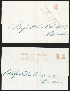 Sale Number 1230, Lot Number 751, Hale & Co: New Jersey and New YorkForwarded Through/Hale's/Letter Office,/New York, Forwarded Through/Hale's/Letter Office,/New York