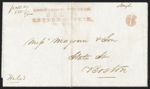 Sale Number 1230, Lot Number 752, Hale & Co: New Jersey and New YorkForwarded Through/Hale's/Letter Office,/New York, Forwarded Through/Hale's/Letter Office,/New York