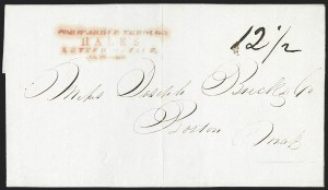 Sale Number 1230, Lot Number 753, Hale & Co: New Jersey and New YorkForwarded Through/Hale's/Letter Office/New York, Forwarded Through/Hale's/Letter Office/New York