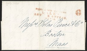 Sale Number 1230, Lot Number 754, Hale & Co: New Jersey and New YorkForwarded Through/Hale's/Letter Office,/New York, Forwarded Through/Hale's/Letter Office,/New York